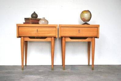 Mid Century Modern Side Table Pair