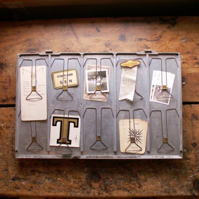 Vintage Silver Clip Display